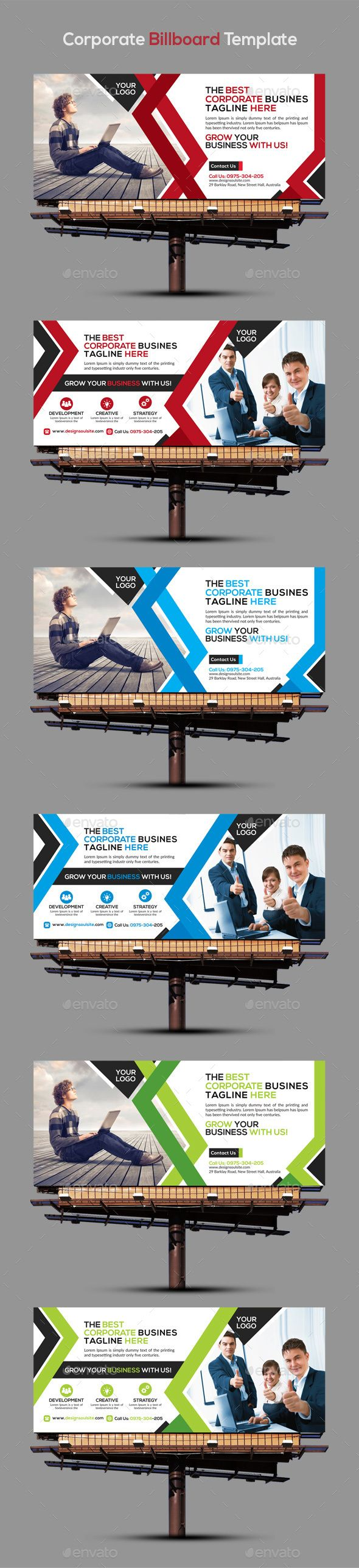 Corporate Billboard Template — Photoshop PSD #billboard #board • Available here → https://graphicriver.net/item/corporate-billboard-template/15246974?ref=pxcr
