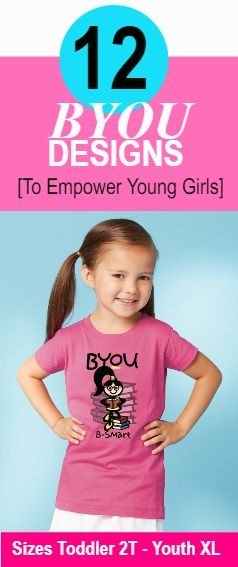 Love this message teaching girls it is okay and good to be smart! BYOU B-Smart!  Smart girls will... #byou  #byoutiful  #ByouBsmart #empowerwomen