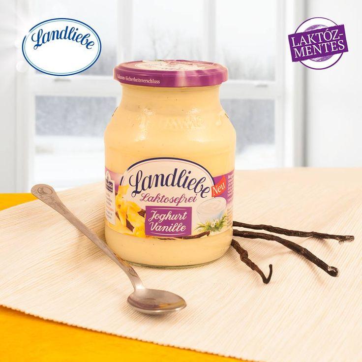 Landliebe laktózmentes vaníliás joghurt. A krémesen lágy, laktózmentes joghurt és az őrölt vanília bab igazán különleges kombinációja.