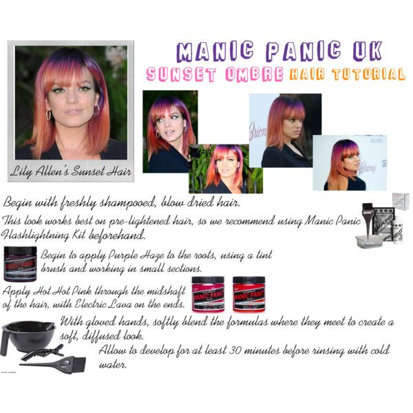 Manic Panic UK: Sunset Ombre Tutorial by manic-panic-uk on Polyvore featuring beauty, colortrak and Polaroid
