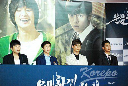 5月27日(月)韓国ソウル、メガボックス東大門で映画「隠密に偉大に」(監督チャン・チョルス)のマ…