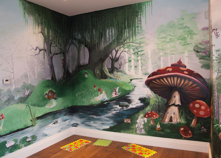 17 best images about vine on pinterest disney tangled for Fairy forest mural