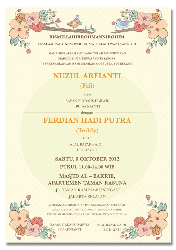 Konsep Undangan Pernikahan Indonesia - Fifi & Teddy Wedding Invitation