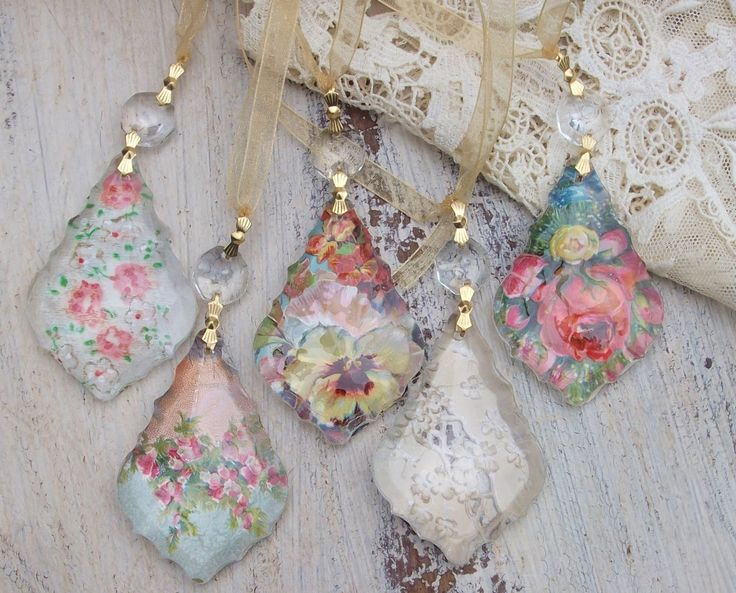 How to Create Amazing Art from Antique Paper Collectibles, Ephemera: How to use Antique Paper Scraps to Create Chandelier Crystal Jewelry Pendants, Ornaments, Decorations