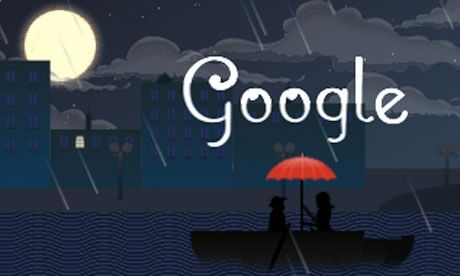 Google is celebrating the 151st anniversary of the birth of French composer Achille-Claude Debussy with an animated doodle set to one of his best-known pieces, Clair de lune (Moonlight).