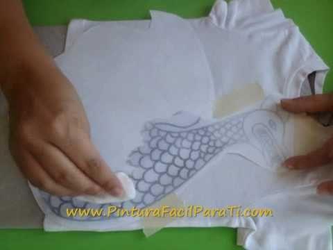▶ Transferir Dibujos a Tela *Transfer Image to Fabric* Pintura en Tela Pintura Facil Para Ti - YouTube