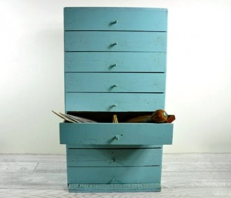 Apothecary Storage Cabinet by Haven Vintage >> I Love this unit! Would be awesome in my studio! $110