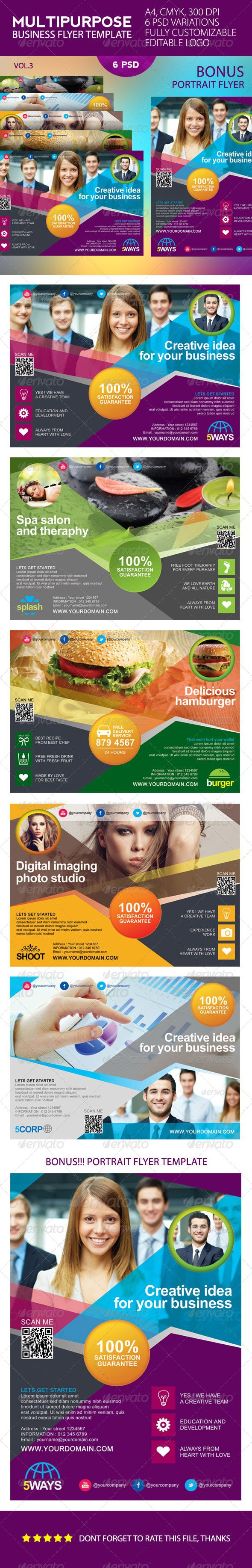 Multipurpose Business Flyer Template  #GraphicRiver