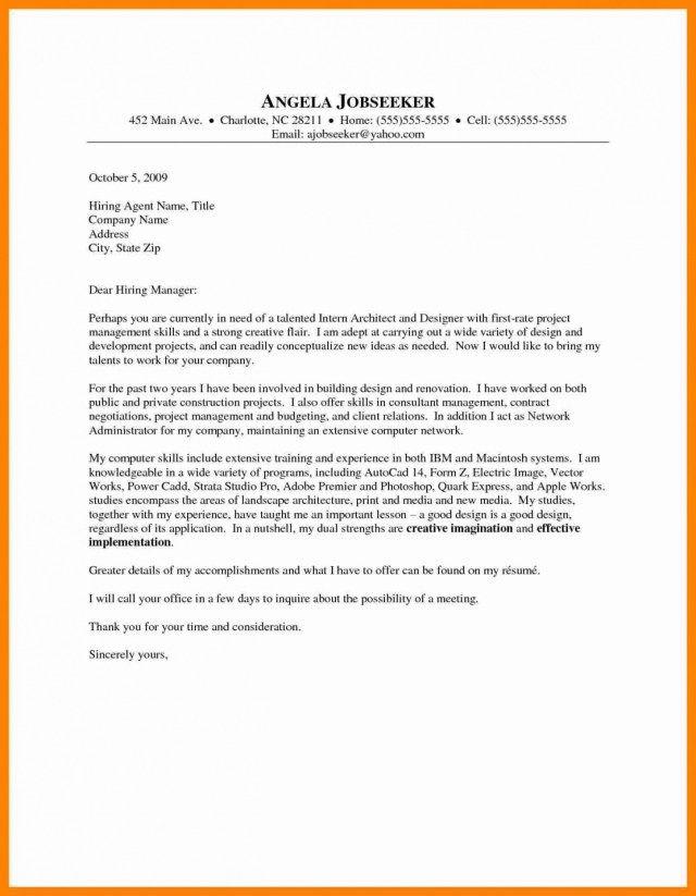 Architecture Cover Letter | 23 Architecture Cover Letter Cover Letter Resume Cover Letter