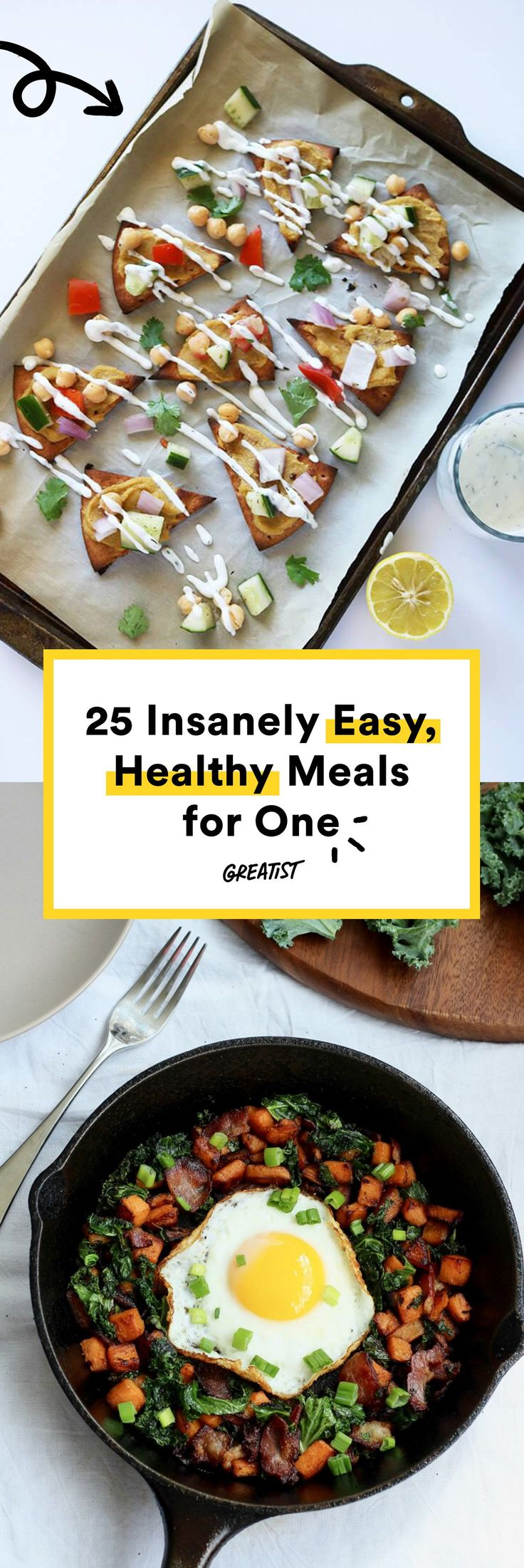 One is no longer the loneliest number in the kitchen.  #Greatist https://greatist.com/health/healthy-single-serving-meals