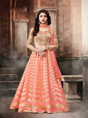 Beige color anarkali suit online shopping for a special occasion with detailed embroideries. Buy stylish designer anarkali suits and dresses available in different colors, patterns and designs. #beigeanarkalisuit #anarkalisuits #onlineshopping #anarkalisdress #salwarkameezonline #longanarkalisuit #pakistanisuits #semistitcheddress #womenanarkalidress #shalwarsuits #indiandress #weddingcollection #asianwear