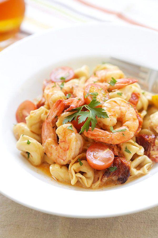海老とサンドライトマトの黄金コンビ!トルテッリーニのレシピ ... 材料がそろったらレッツクッキング♪