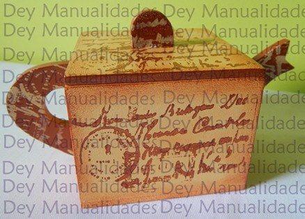 """Tetera o porta-té con diseño """"medio"""" #vintage   #mdf #pintura #té #teatime #pinturacountry #diseñoartesanal  #diseño #artesanal #artesanato #hechoenmérida #hechoenvenezuela #hechoamano #manualidades #decoración #Mérida #Venezuela #igersmérida #igersvenezuela #méridavenezuela #handmade #cute #meridapreciosa #creatividad #crafts #ideas #tw #ig_venezuela"""