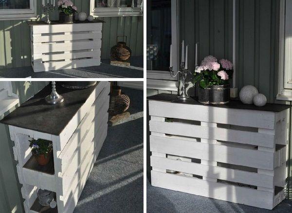 Comptoir de bar construire vous-même les idées blanches décorations peintes étagères