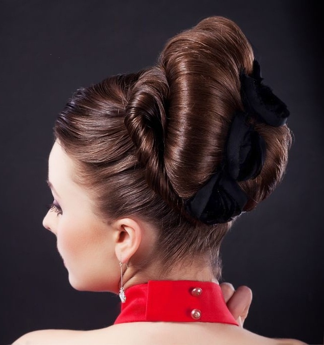 fashion show hairstyles : fancy_bun_prom_hairstyles myFav HAIRSTYLES Pinterest