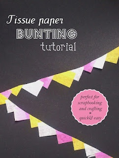 bunting - a mini project for scrapbooking, embellishments and gift wrapping