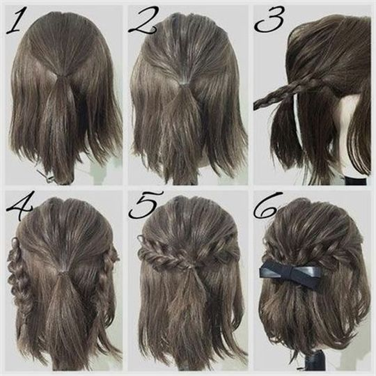 easy prom hairstyle tutorials for girls with short hair #PromHairstyles #Easy #G…
