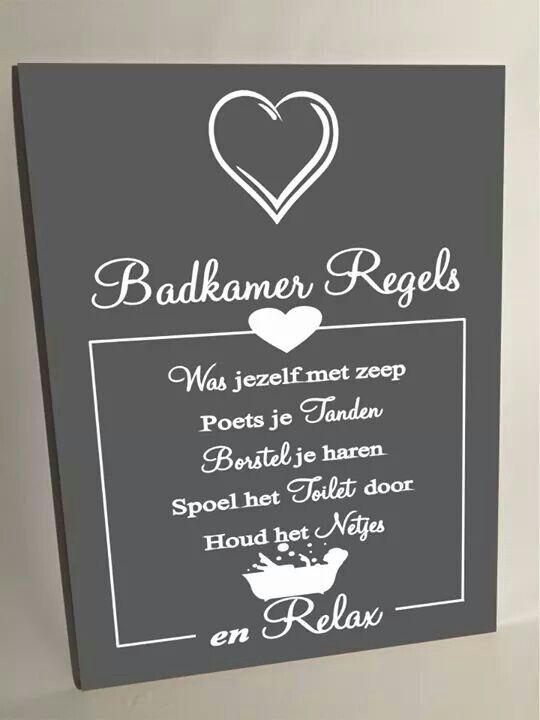 Badkamer regels