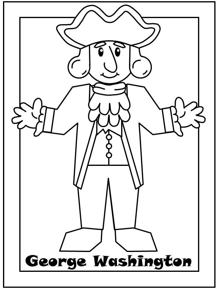 Fancy George Washington Coloring Pages Activities Mold - Ways To Use ...