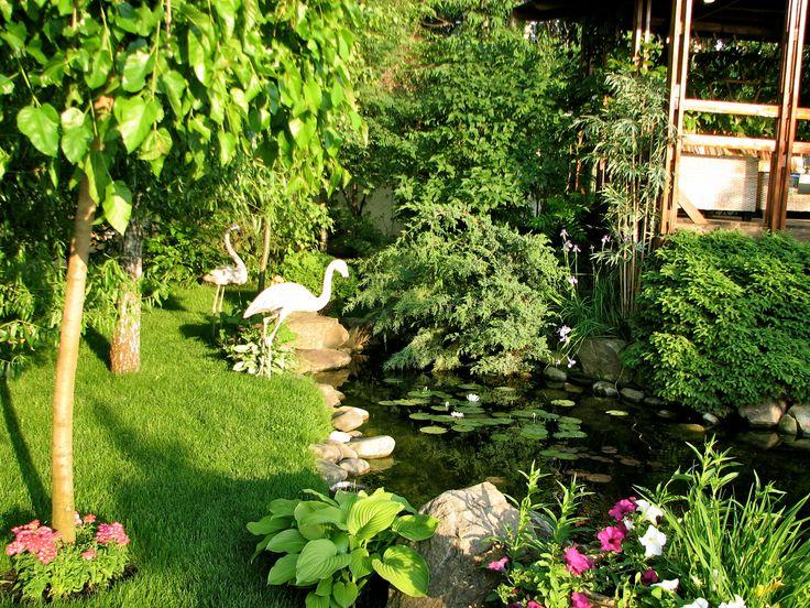 Современный японский сад сочетает традицию с новыми материалами и свежими композициями. Ландшафтный дизайн реализован студией Укр Ландшафт www.ukrpark.com