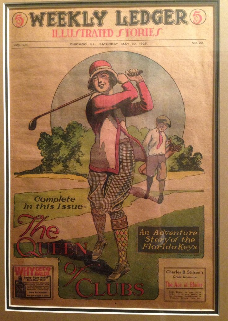 The Chicago Weekly Ledger Illustrated Stories Mai 1925 Golfeuse en tenue