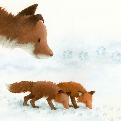 Snow exploring: Illustration by Rebecca Harry