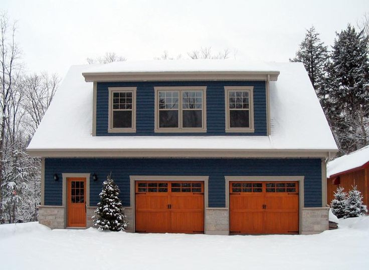 128 best garages and carports images on pinterest for Three car garage with loft apartment