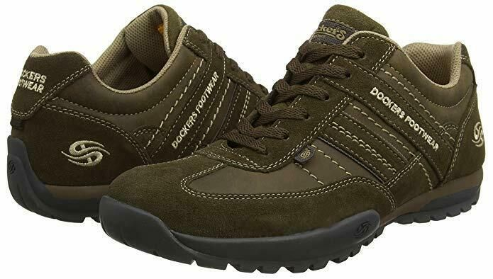 DOCKERS Dark Brown 204420 Sporty Men's Lace Up Shoes Brown