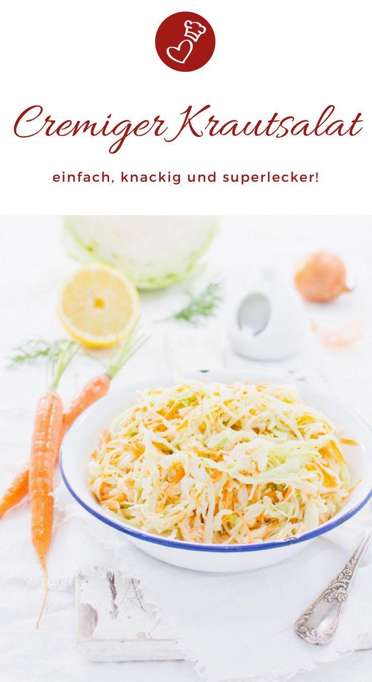 Cremiger Krautsalat – das Rezept   – The Best Recipes from Food Bloggers