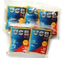 Filtre OCB Slim pentru rulat tutun pachet promo 120+30 filtre gratis     Pretul este pentru 1 punga cu 150 filtre     Ambalaj:  150 filtre/punga  Lungime:  15 mm  Diametru: 6 mm  Comenzi la tel: 0744545936 sau pe www.tuburipentrutigari.ro