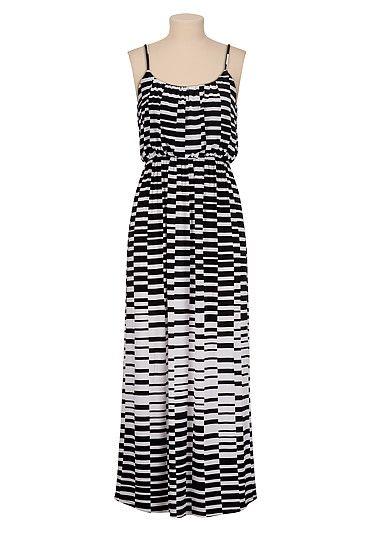 Black and white contrast print maxi dress (original price, $39 ...