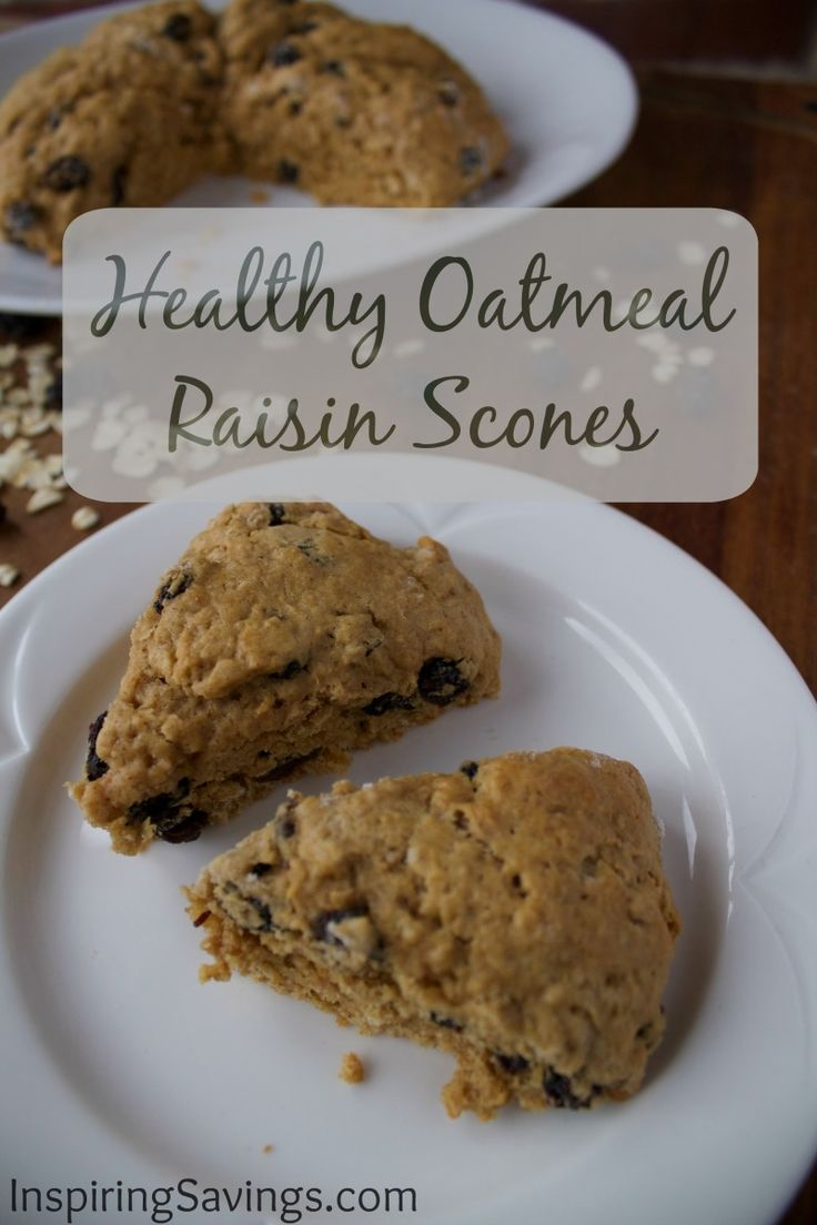 I am so delighted to share with you this Healthy Oatmeal Raisin Scone Recipe. I could eat one of these scones every single day! They are like eating a big oatmeal raisin cookie. What could be better than that? Seriously, there is something to be said about eating scones in the morning.