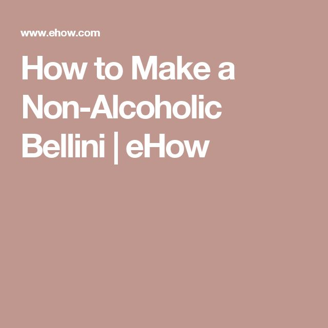 How to Make a Non-Alcoholic Bellini | eHow