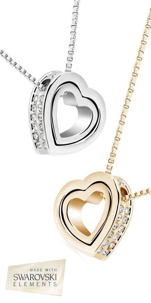 This Mother's Day shine bright with this Stunning Swarovski Elements Interlocking Heart Necklace - Save 92% off now only $10 - Sale ends March 29th 2015 @ 12:00 pm.