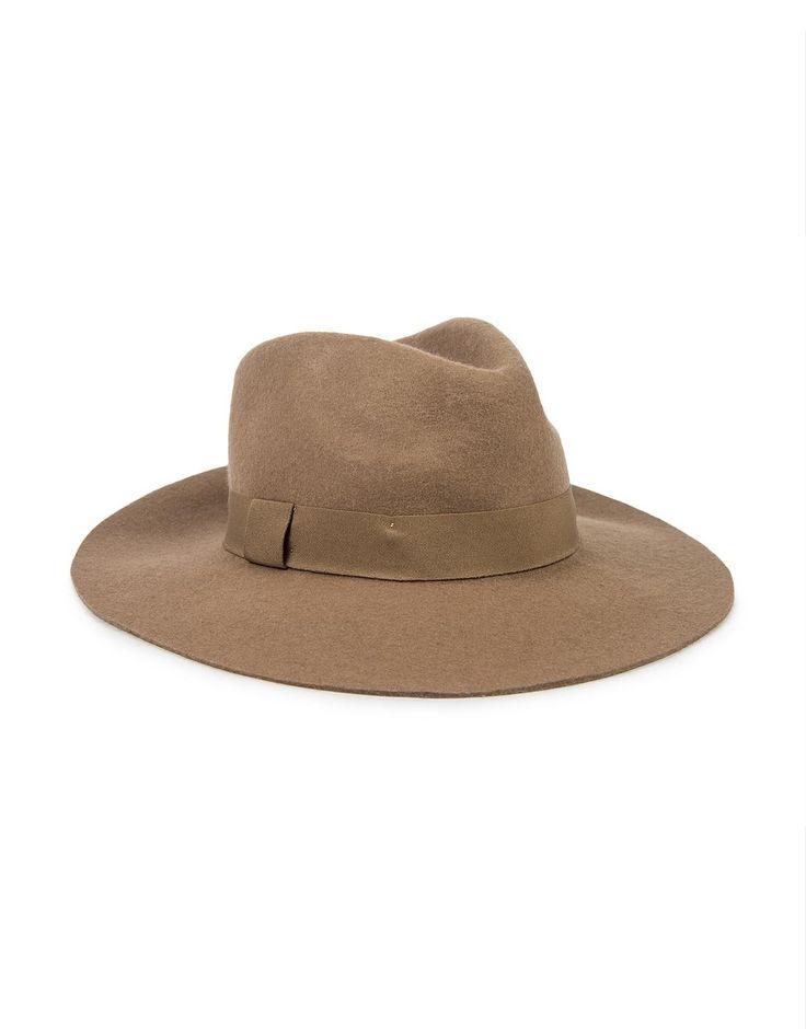 Ribbon Trim Fedora Hat