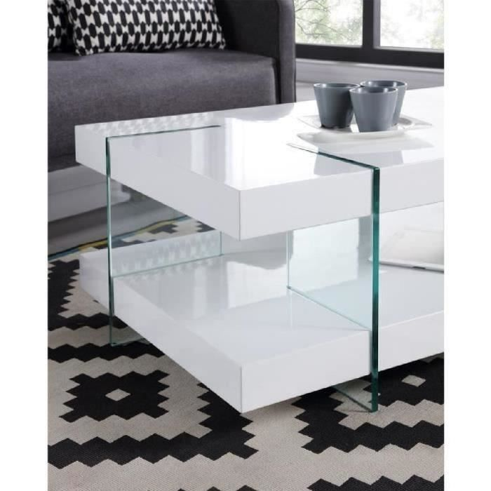 Cdiscount Com Table Basse Blanc Laque Table Basse Blanc Table Basse