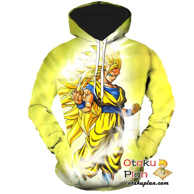 DBZ Goku Super Saiyan 3 Gold Hoodie - Dragon Ball Z 3D Hoodies And Clothing  #animeart #animelover #merchandise #comic #anime #stuff #animeboy