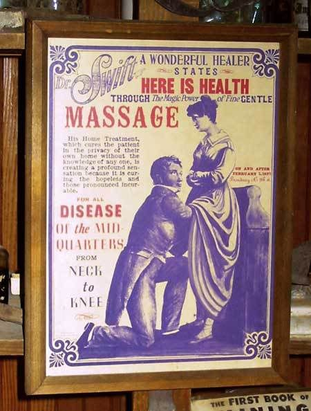 """Sexual frustration -aka """"Female Hysteria"""" can lead to irritability, muscle spasms, and insomnia among other symptoms. What to do with a Victorian woman in such a state? Send her to a doctor for professional pelvic massage.  Victorian men paid doctors to to """"treat"""" their wives with """"hysterical paroxysm"""" -aka orgasm. A Dr. finding this to be tedious (?!) invented a machine=first vibrator."""