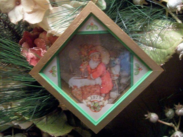 Christmas Eve Surprise Santa Claus Shadow Box Ornament Hallmark Tree Trimmer…