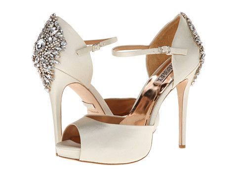 Badgley Mischka Kindra Ivory Satin - Zappos.com Free Shipping BOTH Ways 245$$