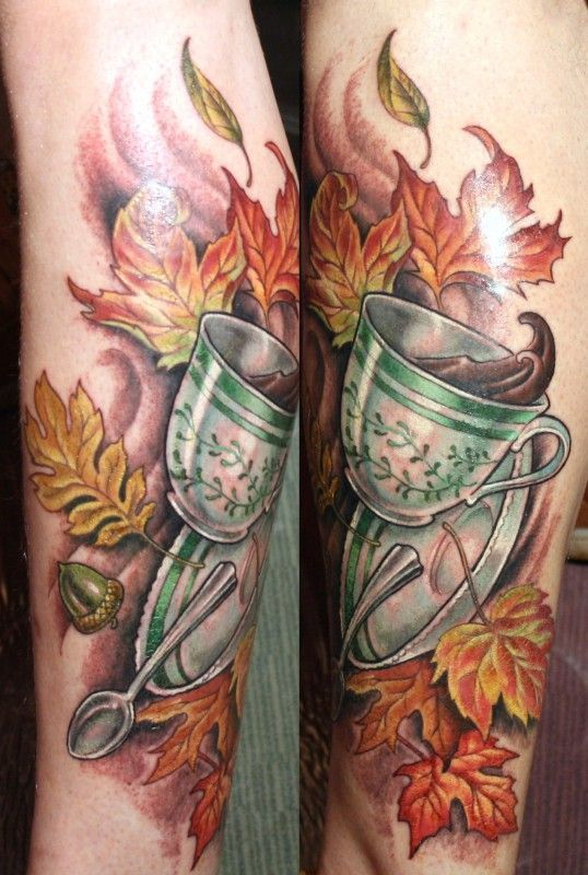 A good cup of coffee to warm you at fall, by Kim Saigh.