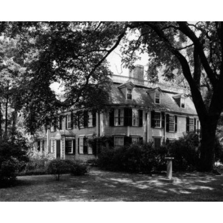 Trees near a house Dorothy Quincy House Built in 1636 Quincy Massachusetts USA Canvas Art - (18 x 24)