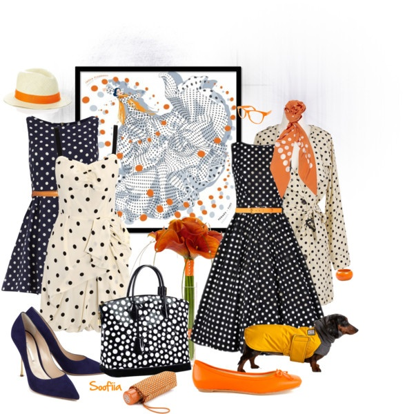 """""""Polka dots from Hermes to LV"""" by soofiia on Polyvore"""