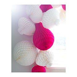 IKEA - VISIONÄR, Závesná dekorácia, Prekvapivá a hravá dekorácia, ktorú si vo vašej domácnosti určite každý všimne.Ideálne na zavesenie a vytvorenie sviatočnej atmosféry.