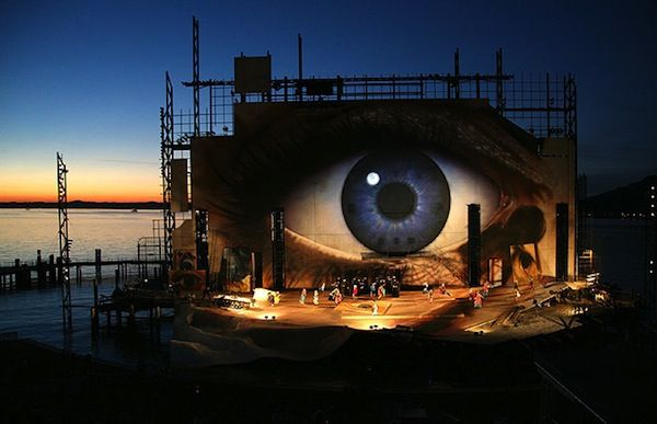 The Floating Stage of the Bregenz Festival In Austria. I saw West Side Story here in 2003.