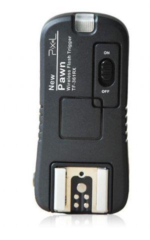 """Pixel Ontvanger TF-361RX voor Pawn TF-361 voor Canon  De Pixel Ontvanger TF-361RX voor Pawn TF-361 voor Canonis geschikt voor de Pawn TF-361 zender. Met deze extra ontvanger is het mogelijk om meerdere camera flitsers aan te sturen met de TF-361. De camera flitser kunt u plaatsen op de hotshoe van de ontvanger. De ontvanger heeft een female schroefdraad van 1/4"""" en kunt u plaatsen op een (lamp)statief of parapluhouder.  Met behulp van deze ontvanger kunt u zowel studio flitsers camera…"""