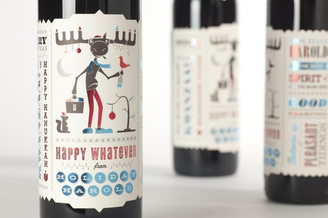 Fun Holiday wine promo  http://www.urbaninfluence.com/client/urban-influence