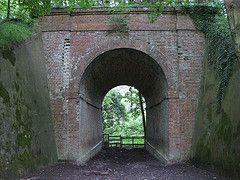 Tunnel under abandoned Elham Valley Railway