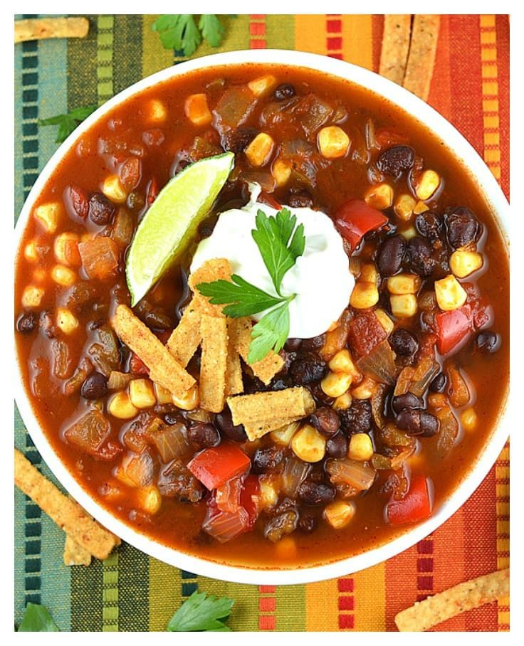 Easy Tortilla Soup by The Veg Life!