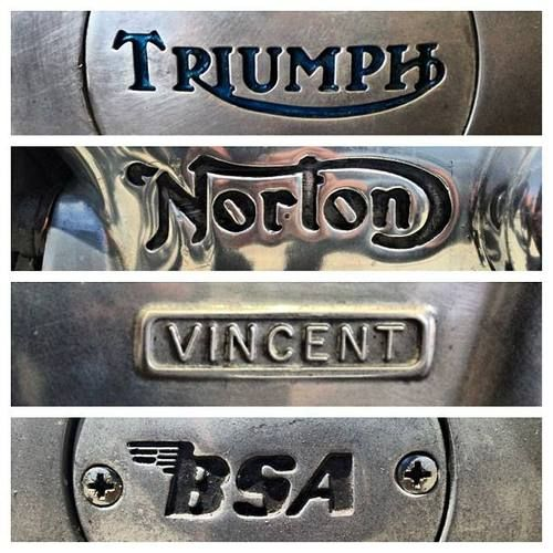 Just love Brit Iron : Triumph Norton Vincent BSA,... the Brits did it first,... the rest followed. Just ask James Dean, Ann Margaret, Elvis, Steve McQueen, Clint Eastwood, Marlon Brando, Rita Hayworth, David Beckham.